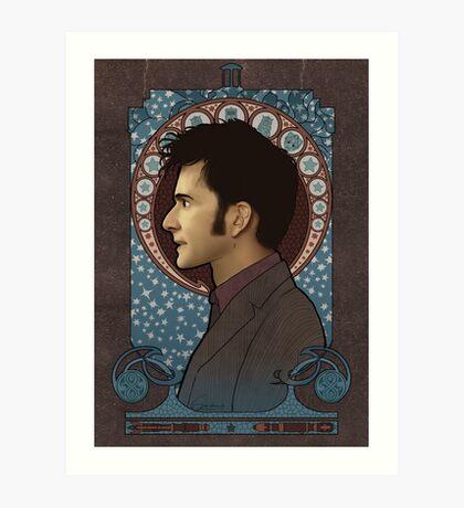 9th Doctor art nouveau Art Print
