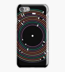 Cool colored vinyl record metro map dj music art iPhone Case/Skin
