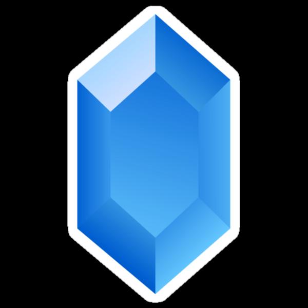 Blue Rupee by cluper