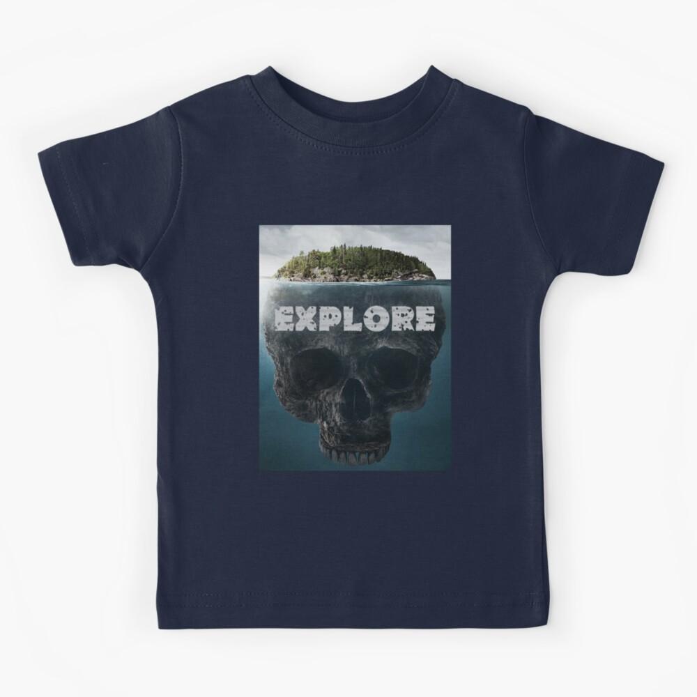 Scull Island Explore Camiseta para niños