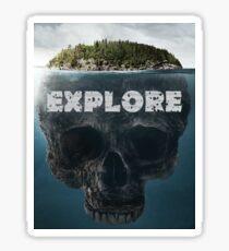 Scull Island Explore Sticker