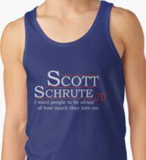 Camiseta de tirantes Scott Schrute para el presidente