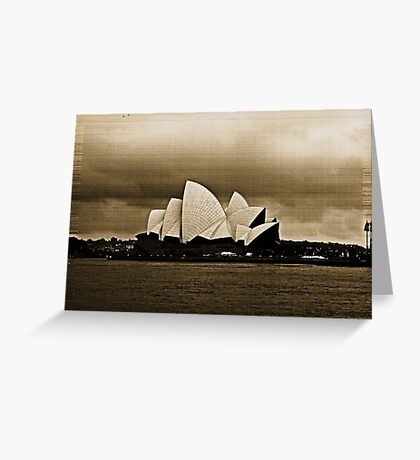 Sydney Opera House in Sepia Greeting Card