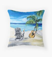 Beach Time with Martin Throw Pillow