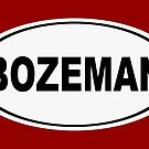Bozeman Montana Oval Design by KWJphotoart
