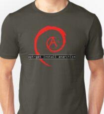 apt-get install anarchism  Unisex T-Shirt