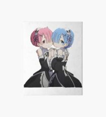 Ram and Rem, Re: Zero Art Board Print