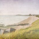 Fistral beach in pastel by Lissywitch