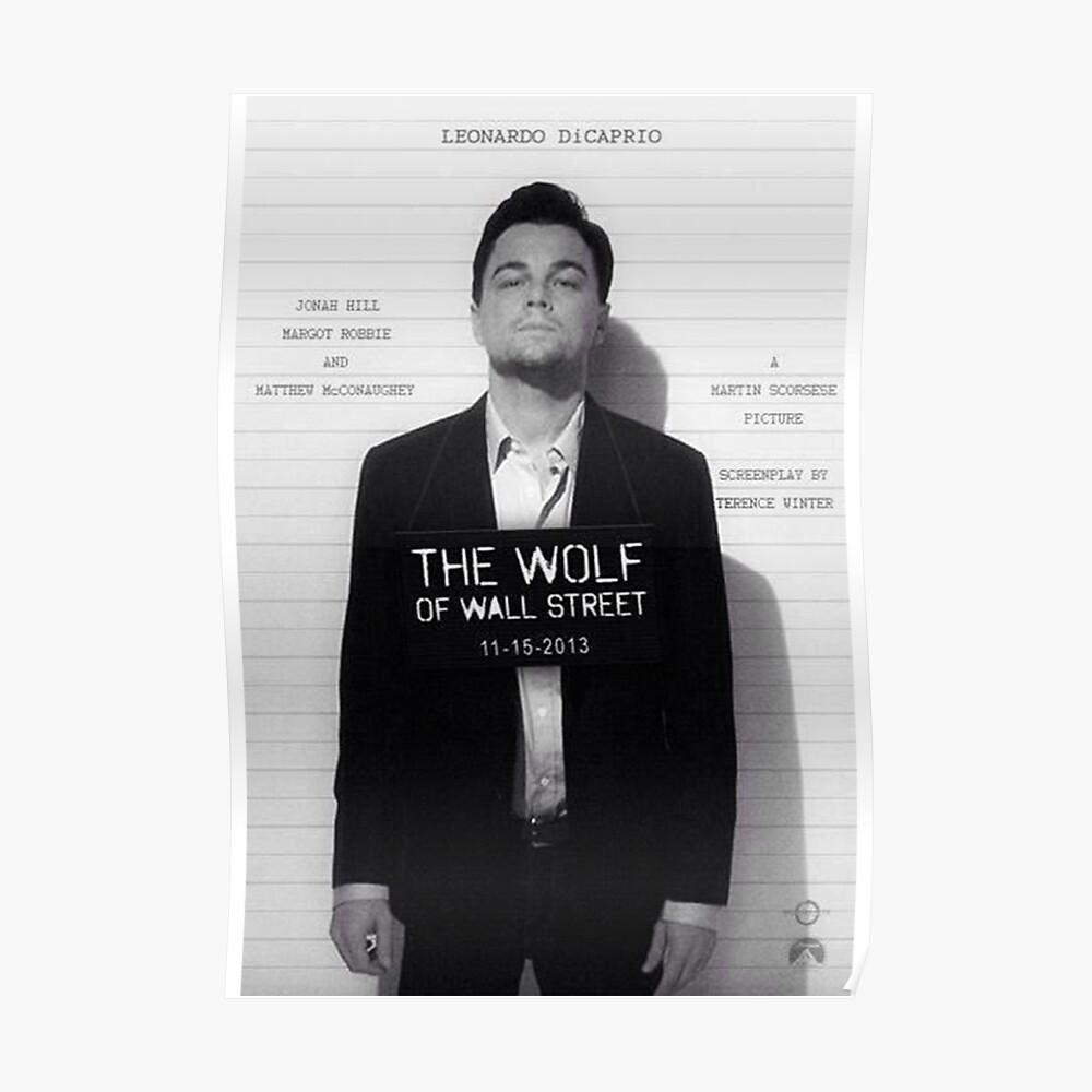 Leonardo Di Caprio - El lobo de Wall Street Póster