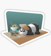 Goofy Panda Sticker