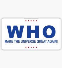 Who Trump? Sticker