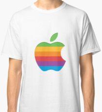 Old Style Rainbow Apple Logo Classic T-Shirt