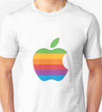 Old Style Rainbow Apple Logo Unisex T-Shirt