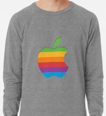 Altes Art-Regenbogen-Apple-Logo Leichtes Sweatshirt