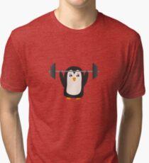 Penguin Weightlifting Tri-blend T-Shirt
