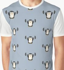 Penguin Weightlifting Graphic T-Shirt