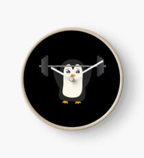 Penguin Weightlifting Clock