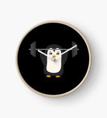 Penguin Weightlifting Clock