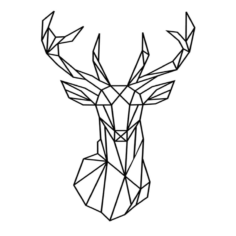 Linear deer by nebiros redbubble - Dessin tete de cerf ...