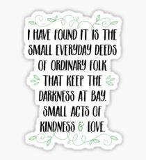 Worte der Weisheit von Gandalf Sticker