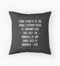 Words of wisdom from Gandalf Throw Pillow