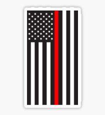 Hanging Red Line Flag: Stars on Left Sticker