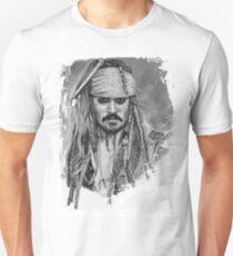 Captain Jack Sparrow Graphite Drawing Unisex T-Shirt