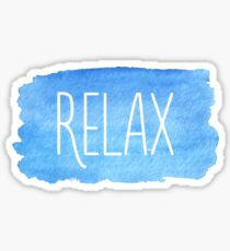 Watercolor Relax Sticker