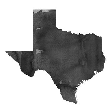 Modern Wall Art Home Office Decor Texas Map Watercolor Printable File, USA State Texas Silhouette Watercolor Grey Black White by NathanMoore