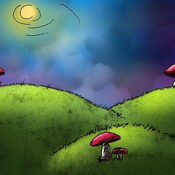 Mushroom Afternoon by onibug