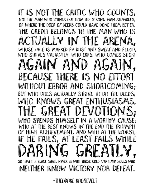 picture relating to The Man in the Arena Printable identify Motivational estimate, Quotation print Printable artwork, Workplace quotation print, Theodore Roosevelt quotation, Inspirational quotation Artwork Print