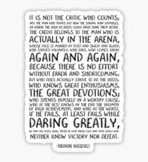Man In The Arena Quote | Arena Stickers Redbubble
