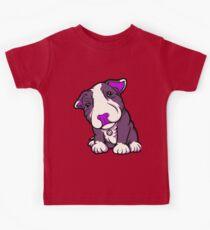 Purple Bully Pup  Kids Tee