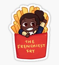 favorite fighting frenchfry Sticker