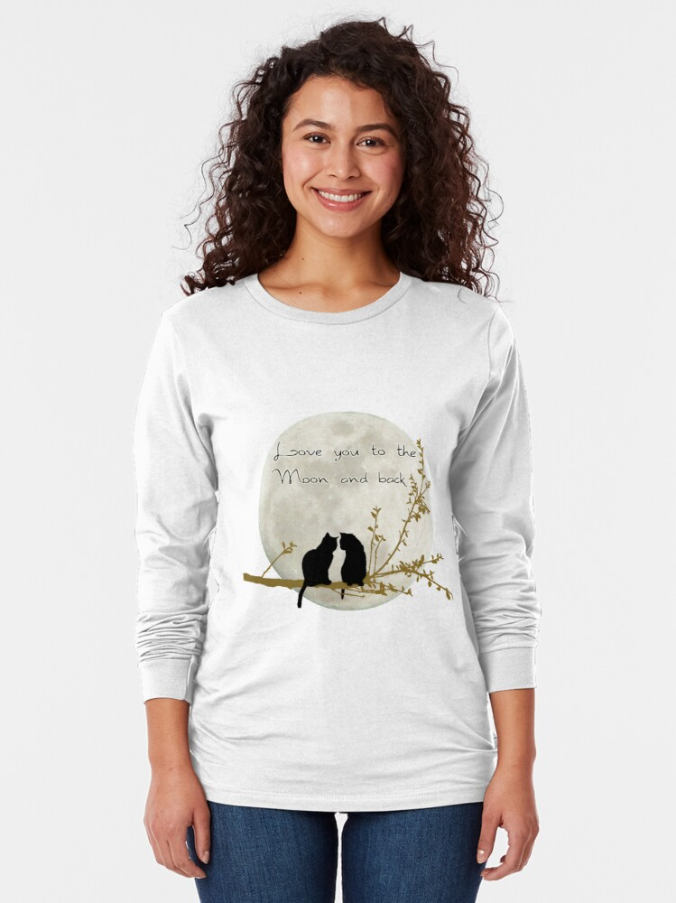Alternate view of Love you to the moon and back Long Sleeve T-Shirt