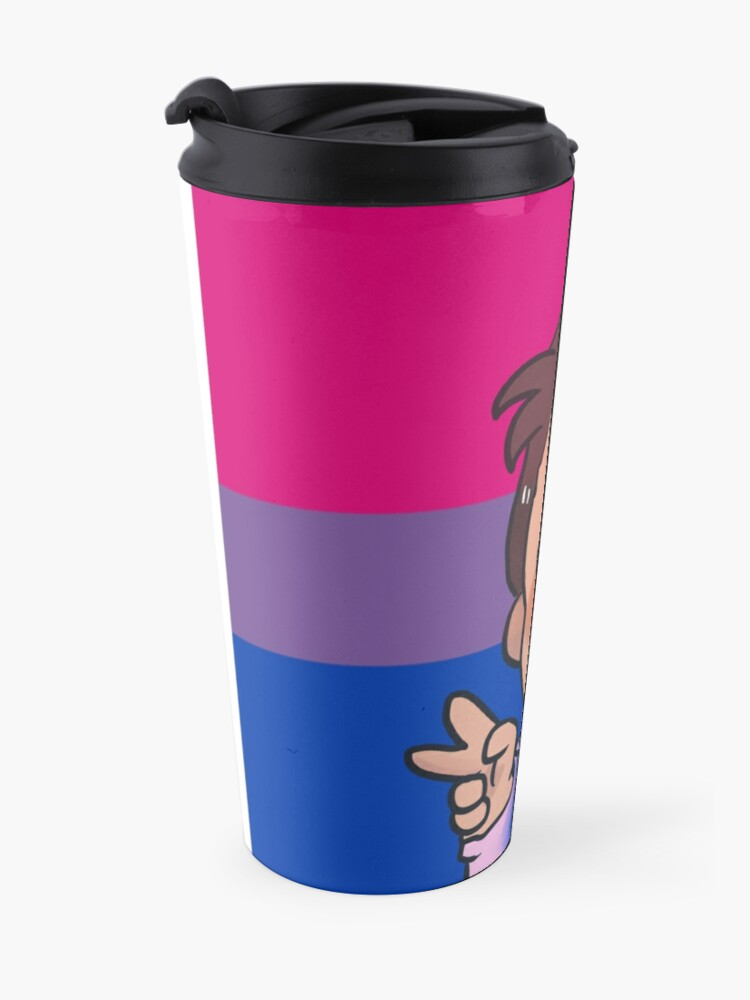 Vista alternativa de Taza de viaje bisexual alex