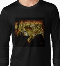 ece7f509 Jaguar Wild Cat Animal-Lover Artwork Long Sleeve T-Shirt