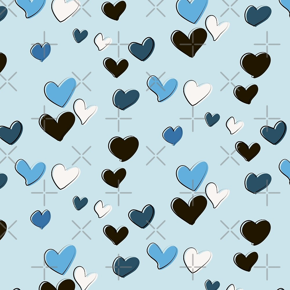blue hearts by Milatoo