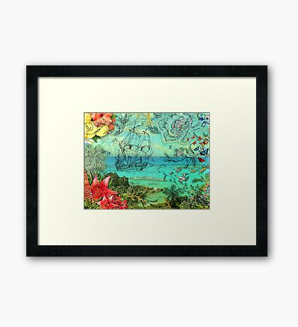 Bermuda and The Sea Venture Framed Print