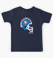 """DEN """"D"""" Helmet - Tecmo Bowl Shirt Kids Tee"""