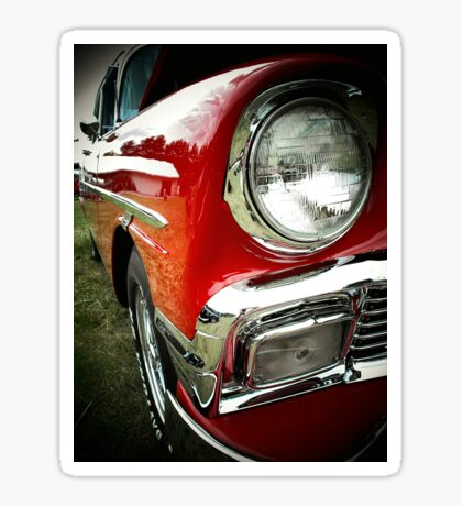 1956 chevy bel-air..full out fast junkie Sticker