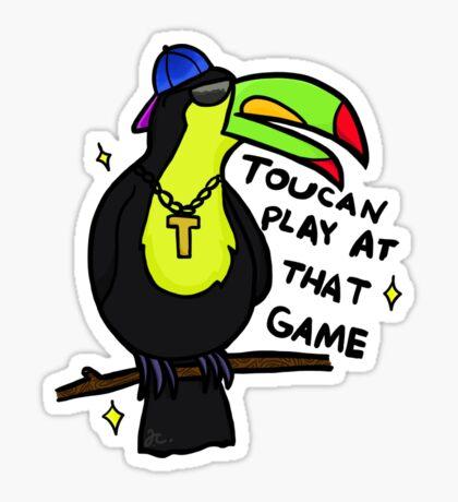 ¡Tucán juega en ese juego! Pegatina