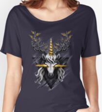 Deer Unicorn Women's Relaxed Fit T-Shirt