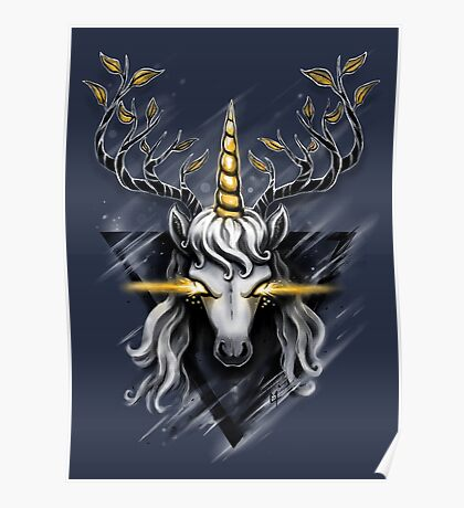 Deer Unicorn Poster