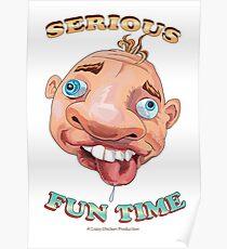 Wacky Face Design Poster