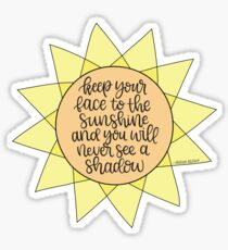 Encouraging Sunshine Quote  Sticker