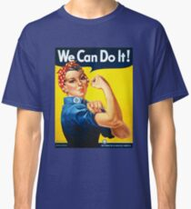 We Can Do It Rosie the Riveter Original Vintage Print Classic T-Shirt