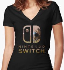 Nintendo Switch zelda Women's Fitted V-Neck T-Shirt