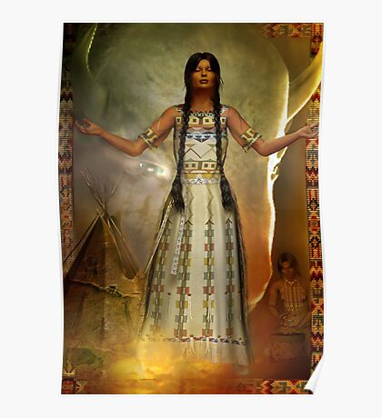white buffalo calf woman   updated copy of orig Poster