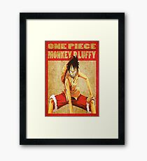 anime - luffy Framed Print